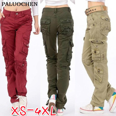 cottonsolidcolor, multipocket, pants, Cargo pants
