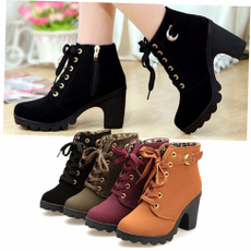 ankle boots, short boots, Leather Boots, Womens Shoes
