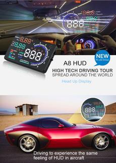 carhud, Cars, temperaturevoltage, displayed