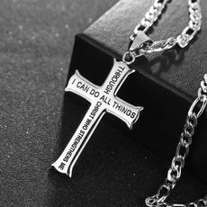 Steel, Men  Necklace, steelnecklace, Cross necklace
