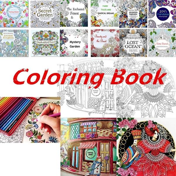 art, Garden, artpaintingbook, flowercoloring