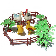 Toy, simulationpoultryset, Gifts, miniature