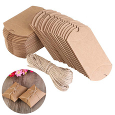 Marrón, wrappinggift, shabby, Boxes