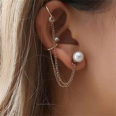 Tassels, punk earring, Chain, Stud Earring