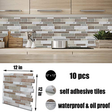 backsplashtileforkitchenpeelandstick, Bathroom, kitchenbacksplashtile, Stickers