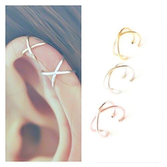 earcuffearring, daintyearring, crossearring, Jewelry