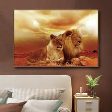bedroom, lionpicture, art, Home Decor