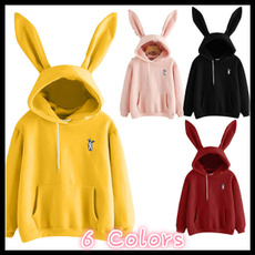 women pullover, blouse, hooded, rabbit