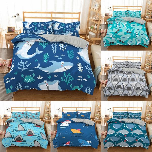beddingkingsize, comforterbeddingset, Shark, seabeddingset