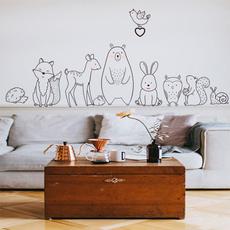 cartoonanimalsticker, Home Decor, animal print, stickermural
