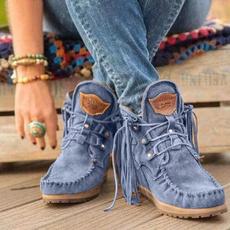 winterbootsforwomen, ankle boots, Tassels, Medieval