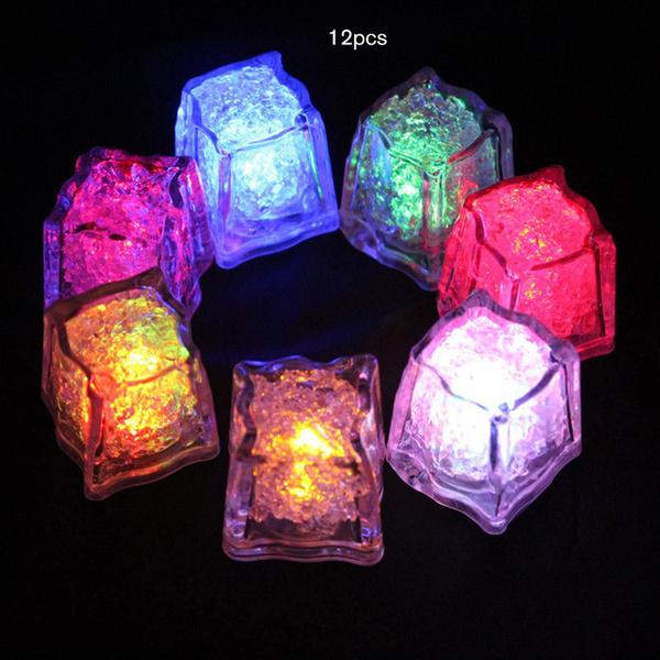 ledflashingice, colorfultouchsensitivenightlight, Ice, illuminatedicecube