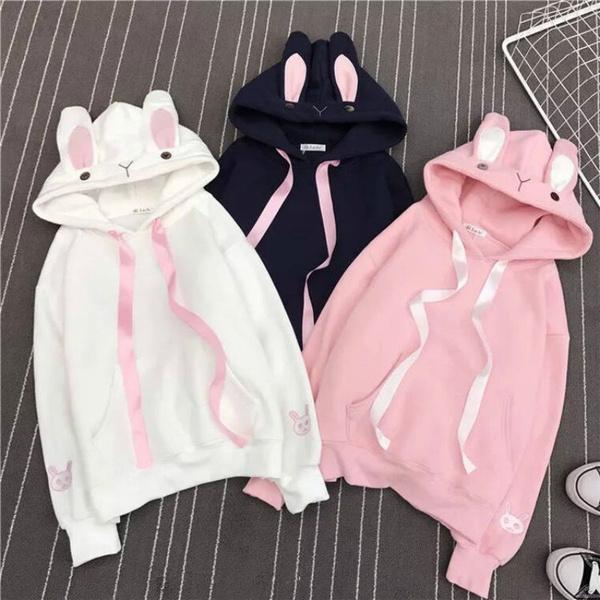 Kawaii, cute, bunny hoodie, rabbit