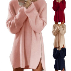 Mini, Fashion, Zip, Sleeve