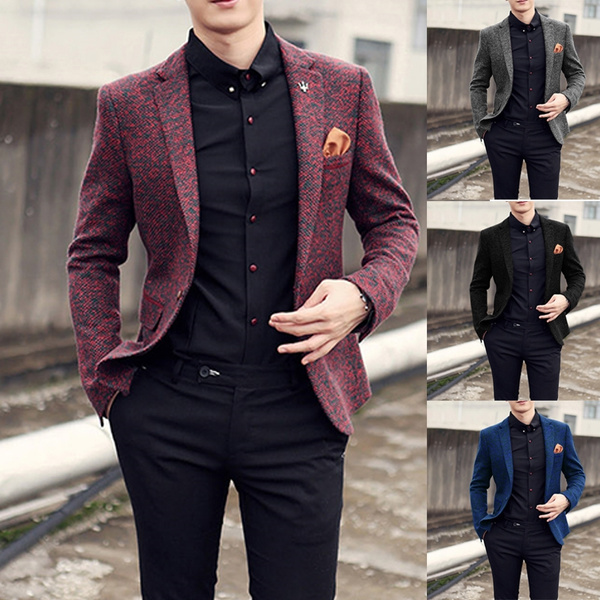 Autumn, Slim  Fitting, Blazer, Spring