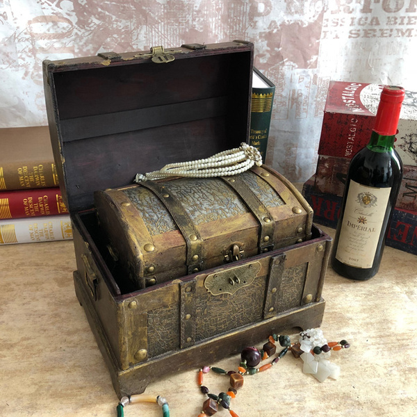 Antique, case, Decor, keepsakejewelry