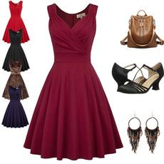 Swing dress, sleeveless, Shorts, short dress
