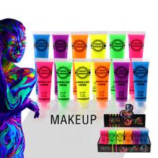 facebodypaint, bodypainting, Festival, Neon