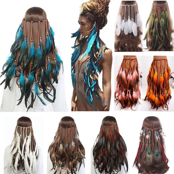Fashion, featherheadband, hanginghairband, Ethnic Style