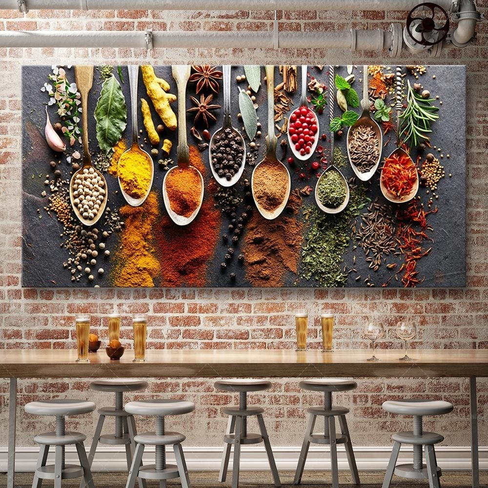 Kitchen Indian Spices Food Cuisine Home Decor Art Poster /& Canvas Pictures