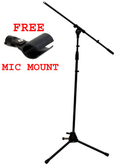 Microphone, Dj, Stand, Mobile