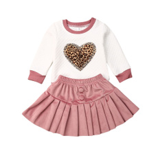 Heart, Fashion, Pleated, Leopard