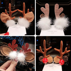 hairdecoration, Christmas, deerhairclip, Deer