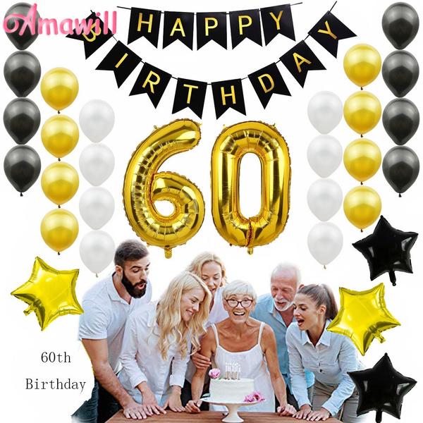 happybirthday, goldballoon, foilballoon, Garland