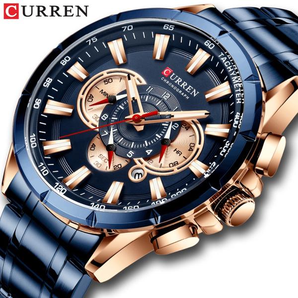 Chronograph, Steel, Fashion, Waterproof Watch