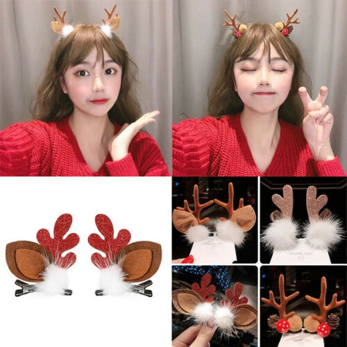 cute, Christmas, Hair Pins, Deer
