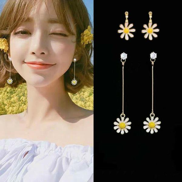 daisyearring, cute, Tassels, Dangle Earring