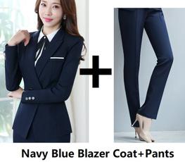 Chaqueta, Plus Size, women pants suit, Office