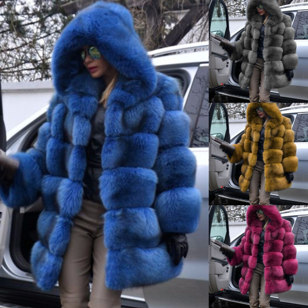 thickenovercoat, Plus Size, fur, Winter