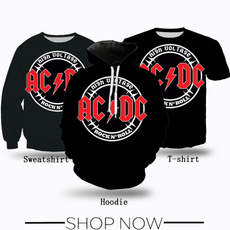 Fashion, acdc, T Shirts, Women Clothing