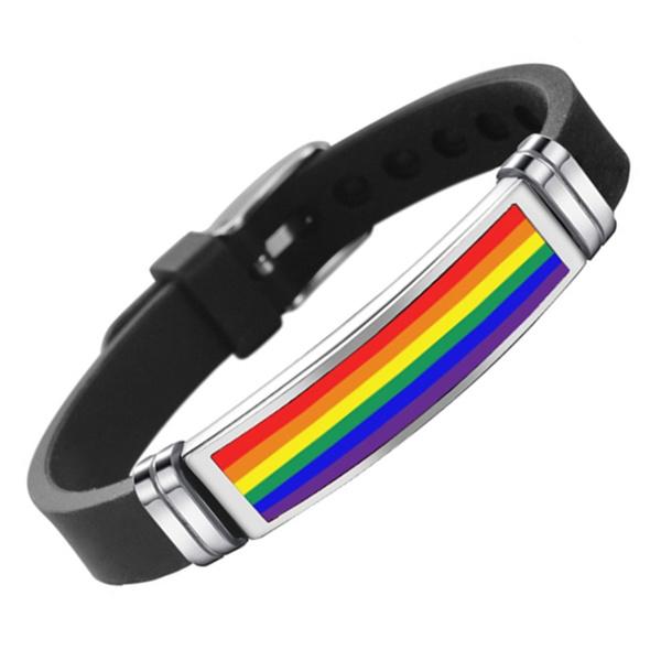 Steel, rainbow, Titanium Steel Bracelet, Jewelry