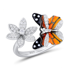 butterfly, butterflyring, crystal ring, Jewelry