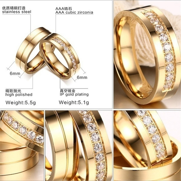 Couple Rings, Steel, DIAMOND, Jewelry