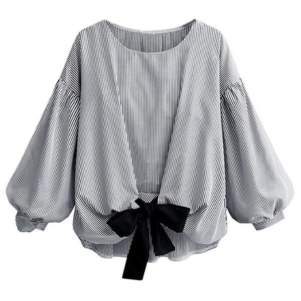 blouse, linenblouse, Plus Size, stripeblouse