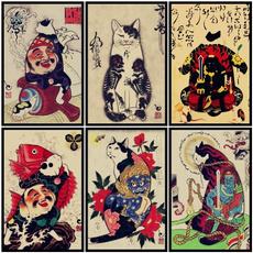 tattoo, cattattoo, vintageposter, walldecoration