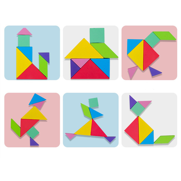 montessori, Educational, tangram, Gifts