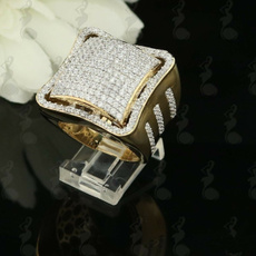 Cubic Zirconia, Fashion, goldplated, gold