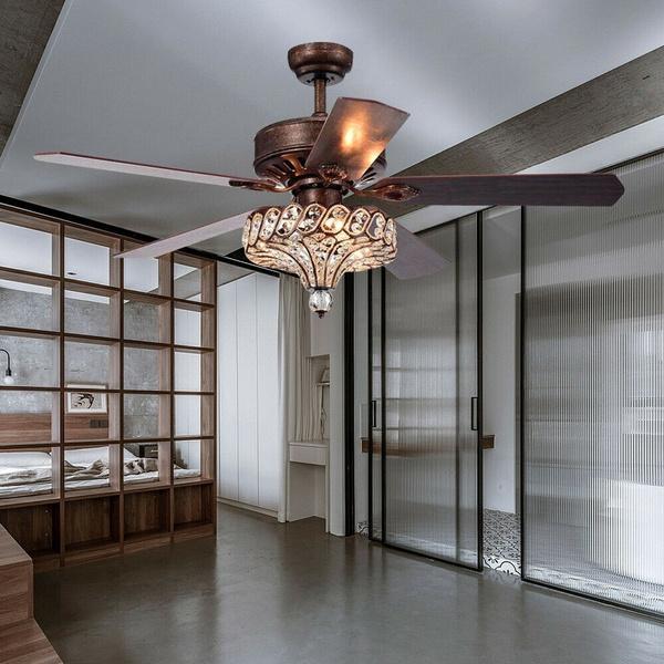 52 Industrial Retro Ceiling Fan Light Elegant 3 Lights Chandelier Bulbs Not Included Wish