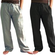 Cotton, elastic waist, casualtrouser, pants
