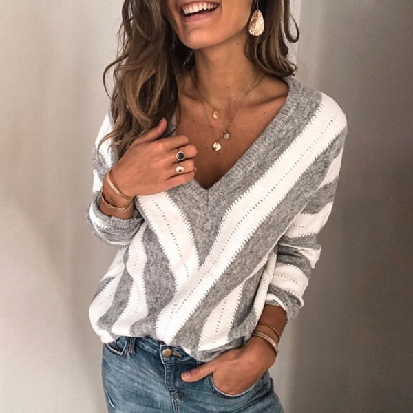 blouse, Fashion, sweaters for women, vnecktop