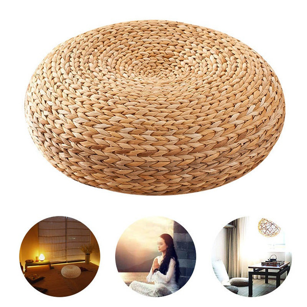 weavedmeditationcushion, teahouse, Yoga, Home & Living