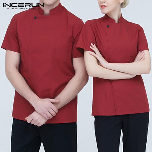Fashion, cookjacket, kitchenclothe, short sleeves