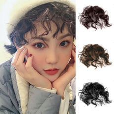 Synthetic, cute, Hairpieces, airbang