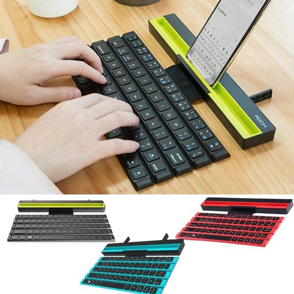 Holster Design Universal Keyboard Device for iPad Andr BHGFCGYUH Wireless Ultra-Thin Portable Folding Keyboard Mini Bluetooth Keyboard