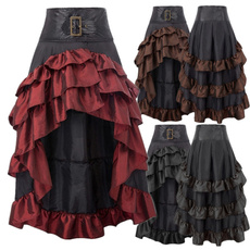 long skirt, Lace Up, Goth, Lolita fashion