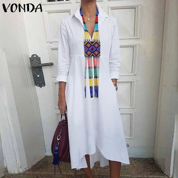 tunicdresse, Turn-down Collar, Plus Size, asymmetricdres